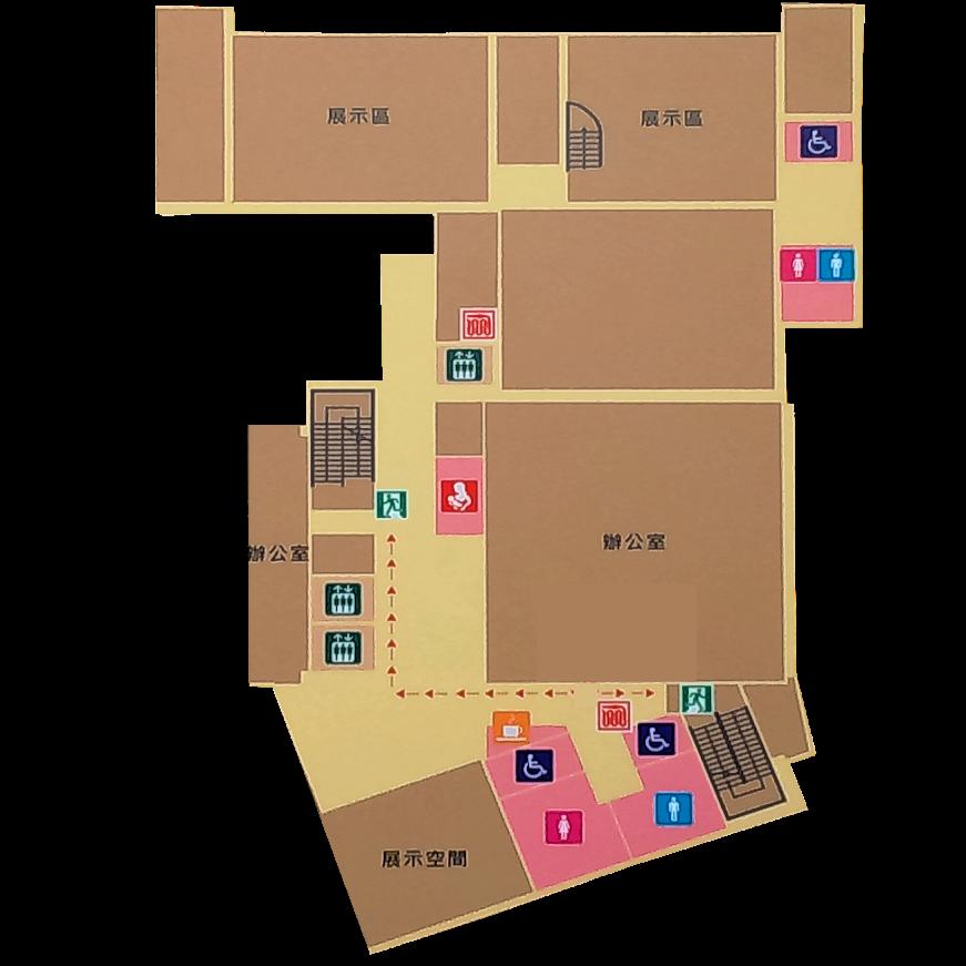2樓臺北市西區輔具中心及臺北市大同中山身心障礙者資源中心
